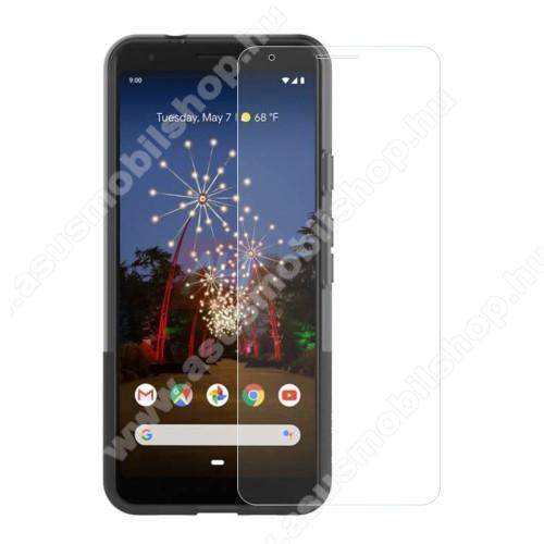Előlap védő karcálló edzett üveg - 0,3 mm vékony, 9H, Arc Edge, A képernyő sík részét védi - Google Pixel 3a