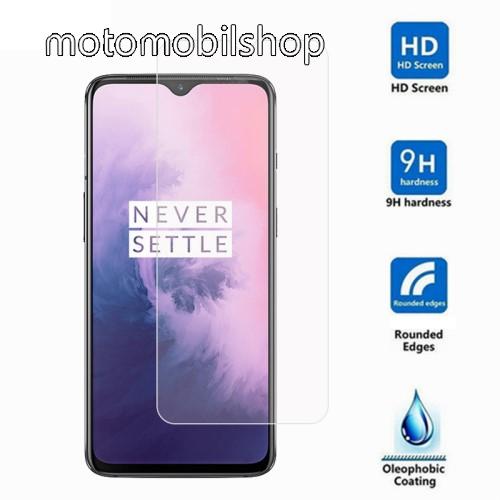 Előlap védő karcálló edzett üveg - 0,3 mm vékony, 9H, Arc Edge - OnePlus 7