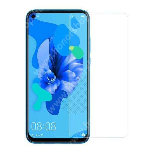 Előlap védő karcálló edzett üveg - 0,3 mm vékony, 9H, Arc Edge, A képernyő sík részét védi - HUAWEI P20 lite (2019) / P40 Lite 4G / nova 5i / Nova 7i / nova 6 SE