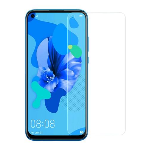 Előlap védő karcálló edzett üveg - 0,3 mm vékony, 9H, Arc Edge, A képernyő sík részét védi - HUAWEI P20 lite (2019) / HUAWEI P40 Lite / nova 5i / Nova 7i / nova 6 SE