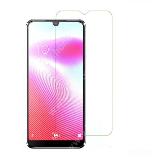 Előlap védő karcálló edzett üveg - 0,3 mm vékony, 9H, Arc Edge, A képernyő sík részét védi - Vodafone Smart V10