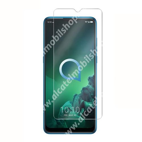 Előlap védő karcálló edzett üveg - 0,3 mm vékony, 9H, Arc Edge, A képernyő sík részét védi - Alcatel 3X (2019)