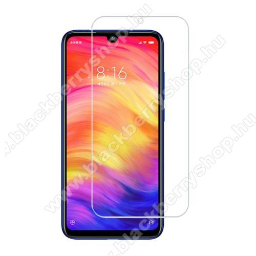 Előlap védő karcálló edzett üveg - 0,3 mm vékony, 9H, Arc Edge, A képernyő sík részét védi - Xiaomi Redmi 8 / Xiaomi Redmi 8A