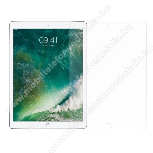 Előlap védő karcálló edzett üveg - 0,3 mm vékony, 9H, Arc Edge, A képernyő sík részét védi - APPLE iPad Pro 12.9 (2017)