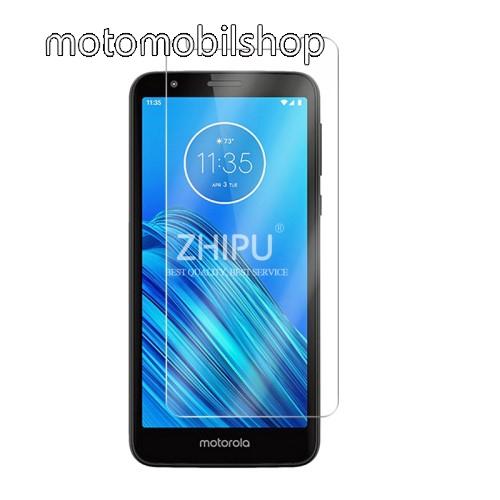 Motorola Moto E6 Előlap védő karcálló edzett üveg - 0,3 mm vékony, 9H, Arc Edge, A képernyő sík részét védi - MOTOROLA Moto E6