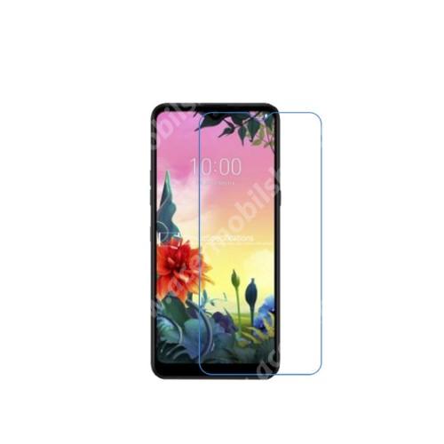 Előlap védő karcálló edzett üveg - 0,3 mm vékony, 9H, Arc Edge, A képernyő sík részét védi - LG K50S (2019)