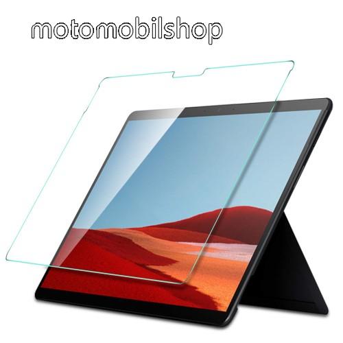 Előlap védő karcálló edzett üveg - 0,3 mm vékony, 9H, Arc Edge, A képernyő sík részét védi - Microsoft Surface Pro X