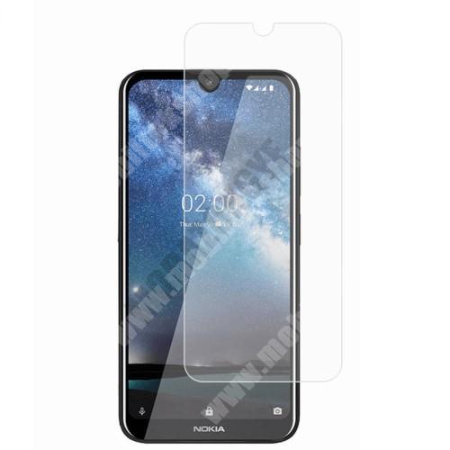 Előlap védő karcálló edzett üveg - 0,3 mm vékony, 9H, Arc Edge, A képernyő sík részét védi - NOKIA 2.3