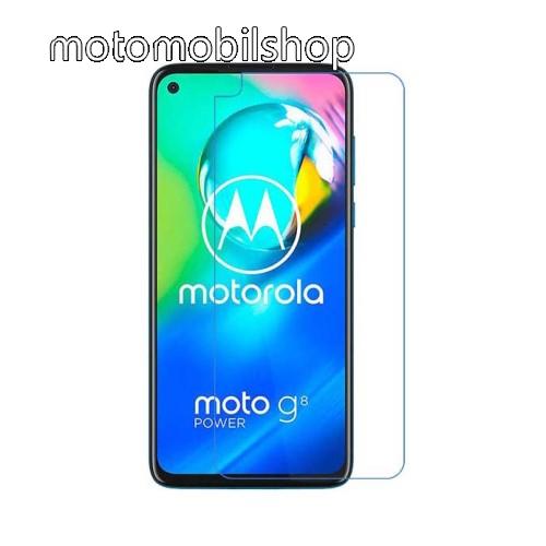 Előlap védő karcálló edzett üveg - 0,3 mm vékony, 9H, Arc Edge, A képernyő sík részét védi - MOTOROLA Moto G8 Power