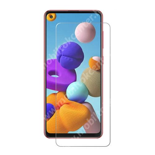 Előlap védő karcálló edzett üveg - 0,3 mm vékony, 9H, Arc Edge, A képernyő sík részét védi - SAMSUNG SM-A217F Galaxy A21s