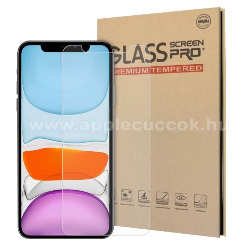 APPLE iPhone 12 miniElőlap védő karcálló edzett üveg - 0,3 mm vékony, 9H, Arc Edge, A képernyő sík részét védi - APPLE iPhone 12 mini