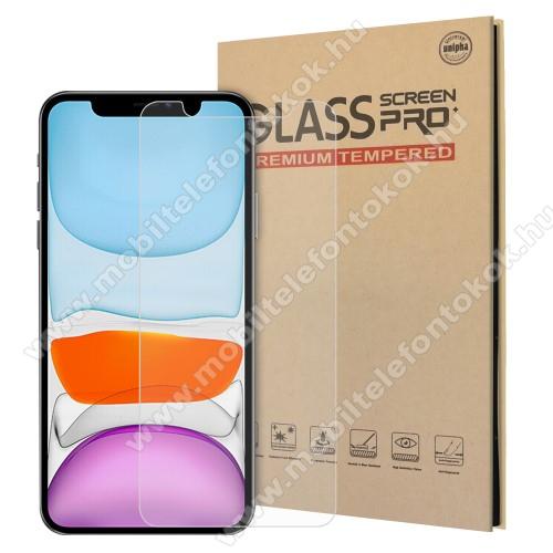 Előlap védő karcálló edzett üveg - 0,3 mm vékony, 9H, Arc Edge, A képernyő sík részét védi - APPLE iPhone 12 Pro Max