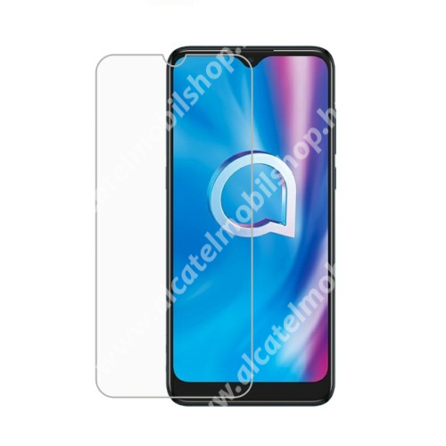 Előlap védő karcálló edzett üveg - 0,3 mm vékony, 9H, Arc Edge, A képernyő sík részét védi - ALCATEL 1S (2020) (OT-5028D) / ALCATEL 1V (2020) / ALCATEL 3L (2020)