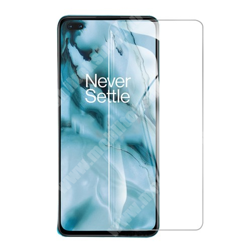 OnePlus Nord Előlap védő karcálló edzett üveg - 0,3 mm vékony, 9H, Arc Edge, A képernyő sík részét védi - OnePlus Nord