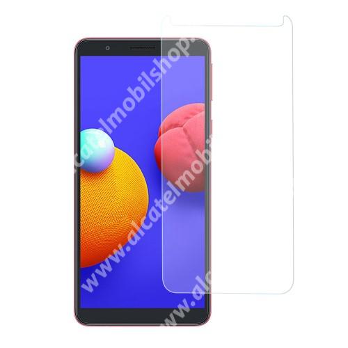 Előlap védő karcálló edzett üveg - 0,3 mm vékony, 9H, Arc Edge, A képernyő sík részét védi - SAMSUNG Galaxy A01 Core (SM-A013F) / SAMSUNG Galaxy M01 Core (SM-M013F)