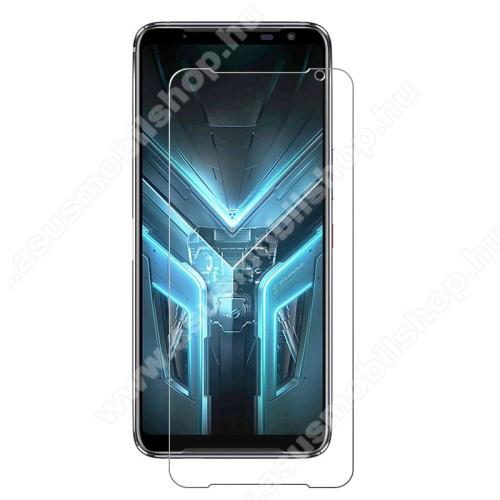 Előlap védő karcálló edzett üveg - 0,3 mm vékony, 9H, Arc Edge, A képernyő sík részét védi - ASUS ROG Phone 3 (ZS661KS) / ASUS ROG Phone 3 Strix