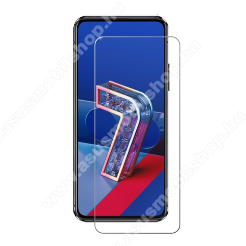 Előlap védő karcálló edzett üveg - 0,3 mm vékony, 9H, Arc Edge, A képernyő sík részét védi - ASUS Zenfone 7 (ZS670KS) / ASUS Zenfone 7 Pro (ZS671KS)