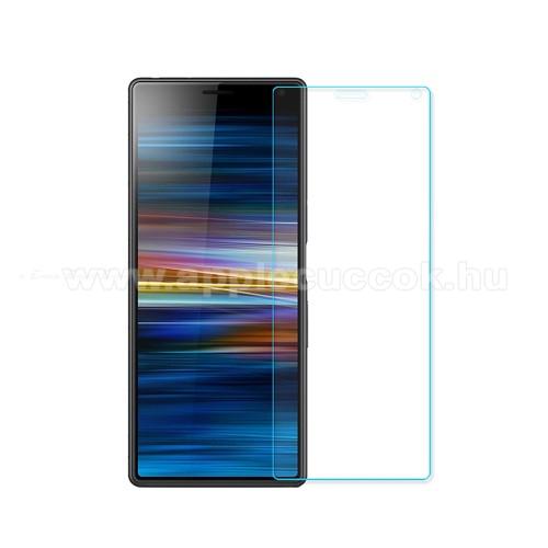 Előlap védő karcálló edzett üveg - 0,3 mm vékony, 9H, Arc Edge, A képernyő sík részét védi - SONY Xperia 5 II (2020)