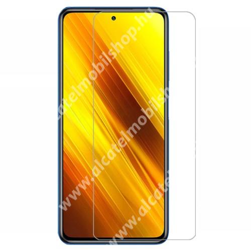 Előlap védő karcálló edzett üveg - 0,3 mm vékony, 9H, Arc Edge, A képernyő sík részét védi - Xiaomi Poco X3 / Poco X3 NFC / Poco X3 Pro