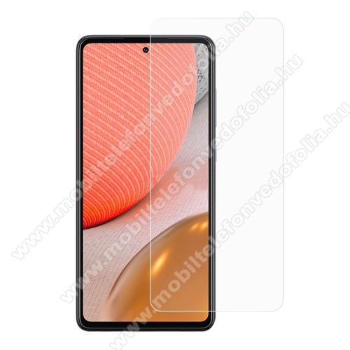Előlap védő karcálló edzett üveg - 0,3 mm vékony, 9H, Arc Edge, A képernyő sík részét védi - SAMSUNG Galaxy A72 5G (SM-A726F) / Galaxy A72 4G (SM-A725F)