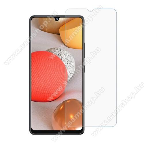 Előlap védő karcálló edzett üveg - 0,3 mm vékony, 9H, Arc Edge, A képernyő sík részét védi! - SAMSUNG Galaxy A42 5G (SM-A425F)