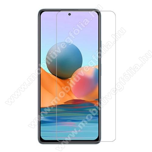 Előlap védő karcálló edzett üveg - 0,3 mm vékony, 9H, Arc Edge, A képernyő sík részét védi - Xiaomi Redmi Note 10 Pro / Redmi Note 10 Pro Max