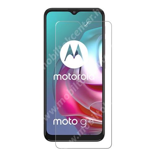 Előlap védő karcálló edzett üveg - 0,3 mm vékony, 9H, Arc Edge, A képernyő sík részét védi - MOTOROLA Moto G30
