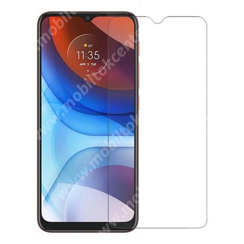 Előlap védő karcálló edzett üveg - 0,3 mm vékony, 9H, Arc Edge, A képernyő sík részét védi - MOTOROLA Moto E7 Power / G10 / G30 / G Play (2021)