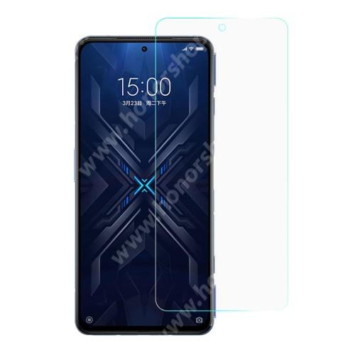 Előlap védő karcálló edzett üveg - 0,3 mm vékony, 9H, Arc Edge, A képernyő sík részét védi - Xiaomi Black Shark 4 / Black Shark 4 Pro