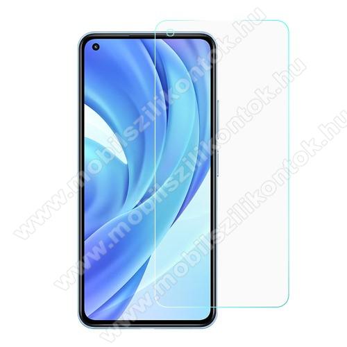 Előlap védő karcálló edzett üveg - 0,3 mm vékony, 9H, Arc Edge, A képernyő sík részét védi - Xiaomi Mi 11 Lite / Xiaomi Mi 11 Lite 5G