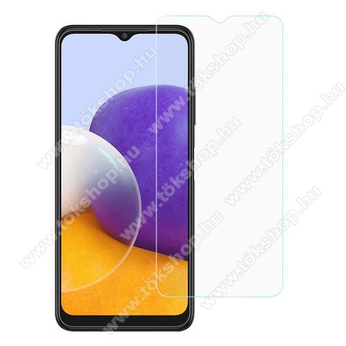 Előlap védő karcálló edzett üveg - 0,3 mm vékony, 9H, Arc Edge, A képernyő sík részét védi - SAMSUNG Galaxy A22 5G (SM-A226)