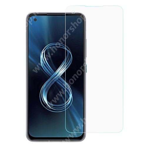 Előlap védő karcálló edzett üveg - 0,3 mm vékony, 9H, Arc Edge, A képernyő sík részét védi - ASUS Zenfone 8 (ZS590KS)