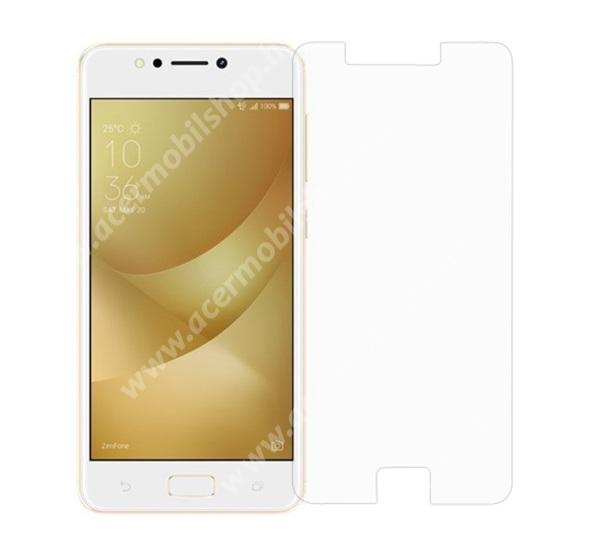 Előlap védő karcálló edzett üveg - 0,3 mm vékony, 9H, Arc Edge, A képernyő sík részét védi - ASUS Zenfone 4 Max (ZC520KL)