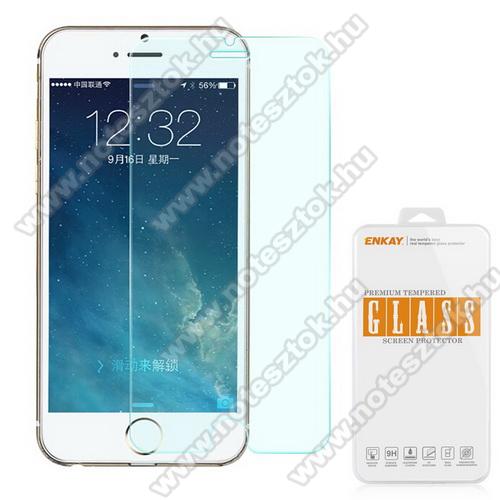 Előlap védő karcálló edzett üveg - 0,3 mm vékony, 9H, A képernyő sík részét védi - APPLE iPhone 6 Plus