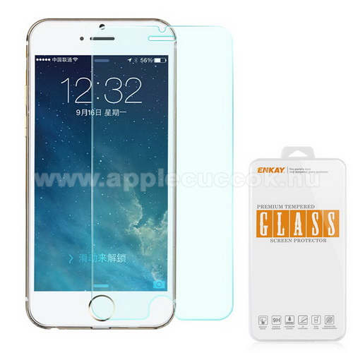 Előlap védő karcálló edzett üveg - 0,3 mm vékony, 9H - APPLE iPhone 6 Plus