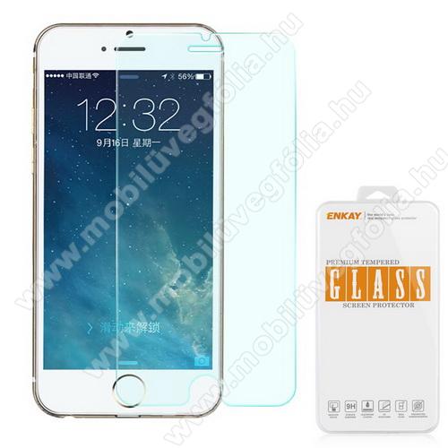 Előlap védő karcálló edzett üveg - 0,3 mm vékony, 9H, A képernyő sík részét védi - APPLE iPhone 6