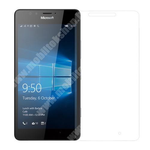 Előlap védő karcálló edzett üveg - 0,3 mm vékony, 9H, Arc Edge - MICROSOFT Lumia 950 / MICROSOFT Lumia 950 Dual SIM