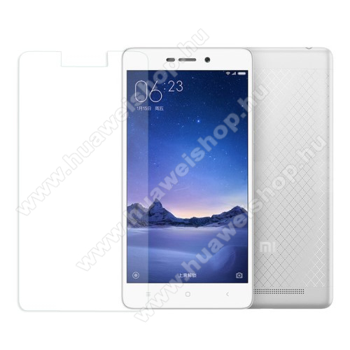 Előlap védő karcálló edzett üveg - 0,3 mm vékony, 9H, Arc Edge - XIAOMI Redmi 3 / Redmi 3 Pro / Xiaomi Redmi 3s / Redmi 3s Prime / Redmi 3x