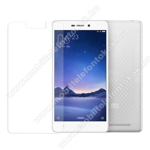 Előlap védő karcálló edzett üveg - 0,3 mm vékony, 9H, Arc Edge, A képernyő sík részét védi - XIAOMI Redmi 3 / Redmi 3 Pro / Xiaomi Redmi 3s / Redmi 3s Prime / Redmi 3x