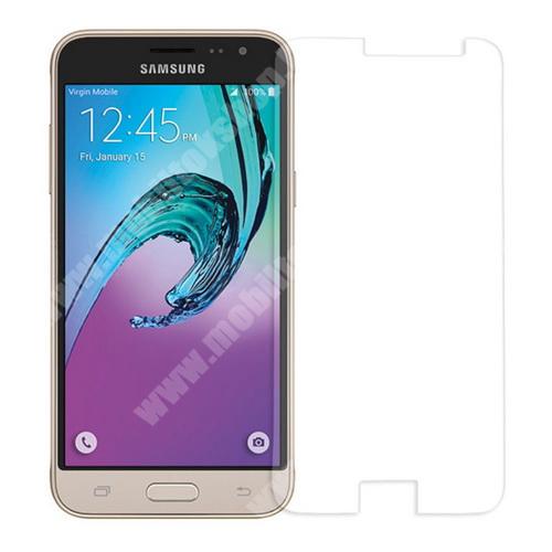 Előlap védő karcálló edzett üveg - 0,3 mm vékony, 9H, Arc Edge - SAMSUNG SM-J320F Galaxy J3 (2016)