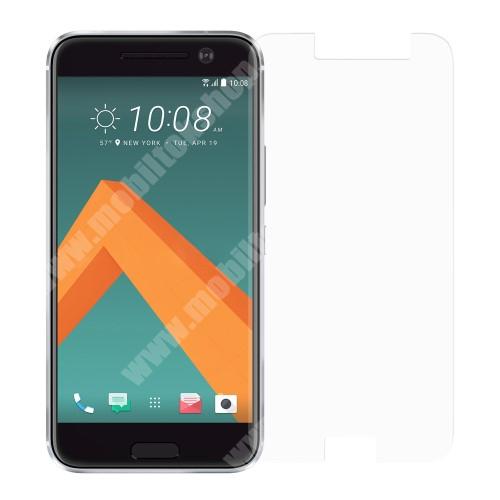 Előlap védő karcálló edzett üveg - 0,3 mm vékony, 9H, Arc Edge - HTC 10