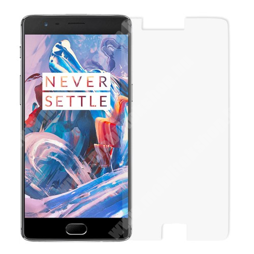 Előlap védő karcálló edzett üveg - 0,3 mm vékony, 9H, Arc Edge - OnePlus 3