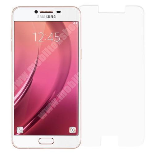 Előlap védő karcálló edzett üveg - 0,3 mm vékony, 9H, Arc Edge - SAMSUNG Galaxy C5