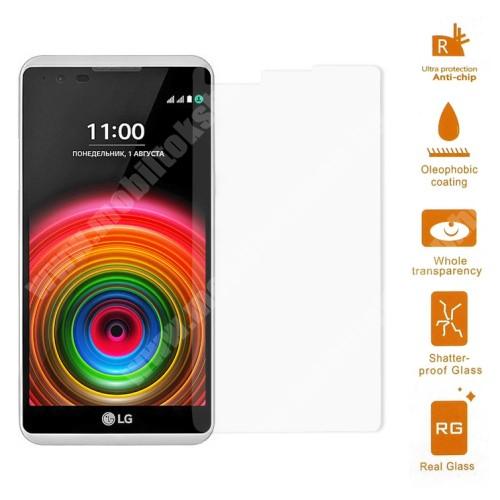 Előlap védő karcálló edzett üveg - 0,3 mm vékony, 9H, Arc Edge - LG X Power