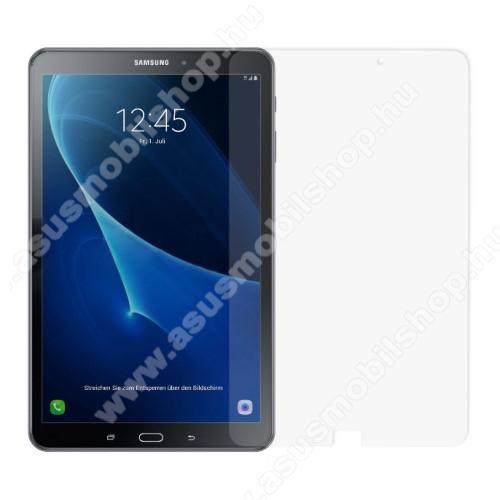 Előlap védő karcálló edzett üveg - 0,3 mm vékony, 9H, Arc Edge, A képernyő sík részét védi - SAMSUNG SM-T580 Galaxy Tab A 10.1 (2016) / SAMSUNG SM-T585 Galaxy Tab A 10.1 (2016)