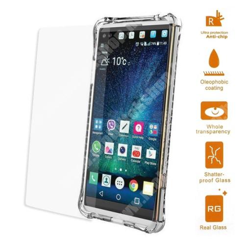 Előlap védő karcálló edzett üveg - 0,3 mm vékony, 9H, Arc Edge - LG V20