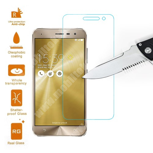 Előlap védő karcálló edzett üveg - 0,3 mm vékony, 9H, Arc Edge - ASUS Zenfone 3 (ZE520KL)
