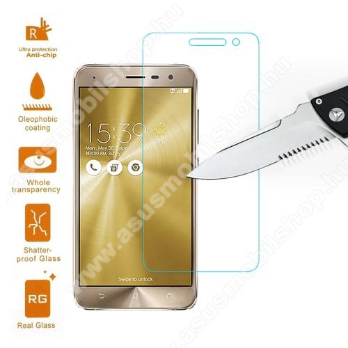 Előlap védő karcálló edzett üveg - 0,3 mm vékony, 9H, Arc Edge, A képernyő sík részét védi - ASUS Zenfone 3 (ZE520KL)