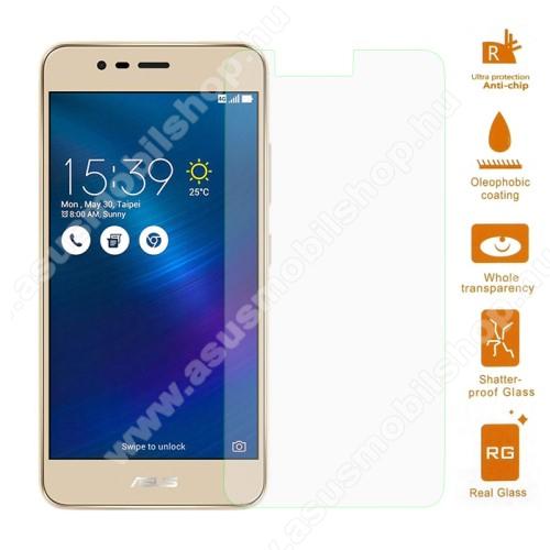 Előlap védő karcálló edzett üveg - 0,3 mm vékony, 9H, Arc Edge, A képernyő sík részét védi - ASUS Zenfone 3 Max (ZC520TL)