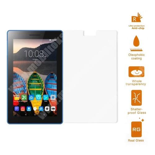 Előlap védő karcálló edzett üveg - 0,3 mm vékony, 9H, Arc Edge - Lenovo Tab3 7-730M